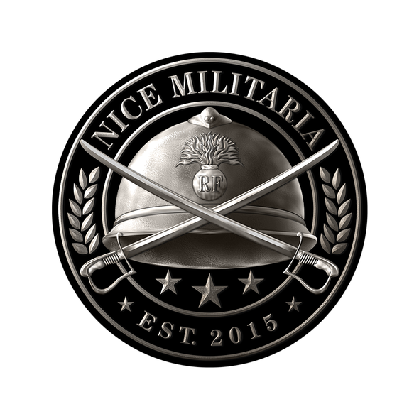 Army logo with the title 'Logo design for Nice Militaria'