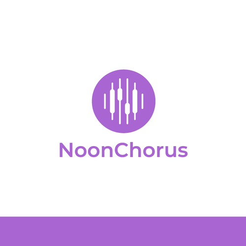 Equalizer logo with the title 'Noon Chorus Logo'
