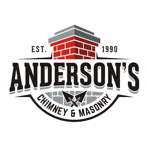 Handyman design with the title 'Anderson's Chimney masonry'