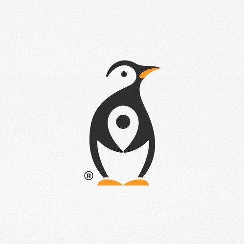 Pin logo with the title 'Penguin Travel '