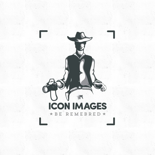 Cowboy logo with the title 'ICON IMAGES'