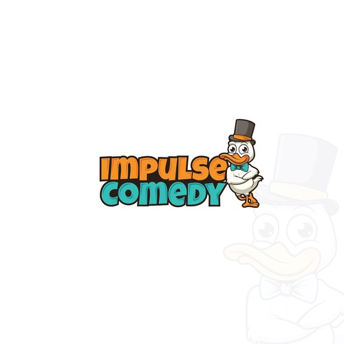 Duck logo with the title 'Impulse Comedy'