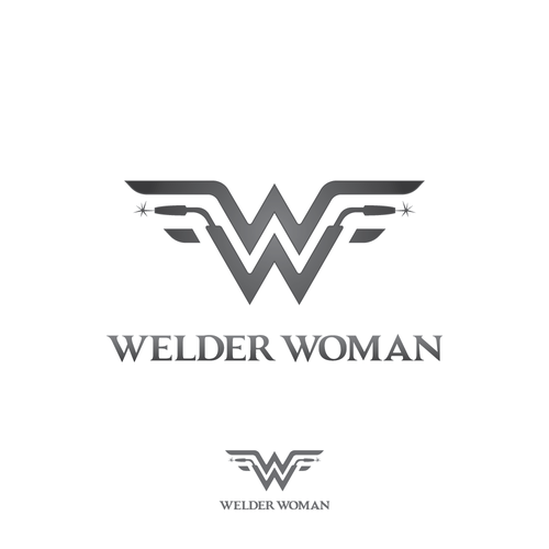 Welding design with the title 'Welder Woman logo design'