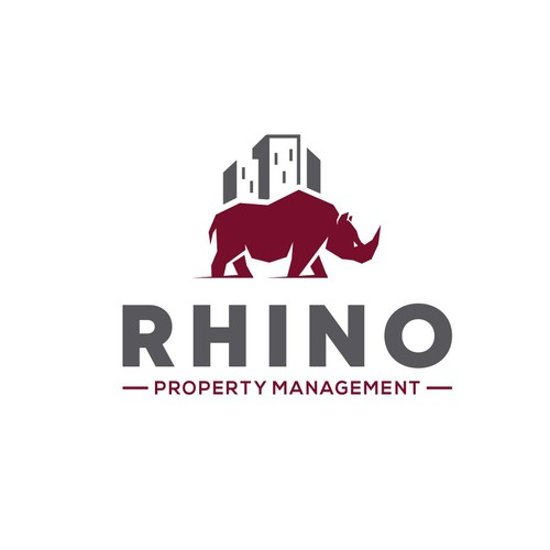 Rhino design with the title 'RPM Rhino Property Management '
