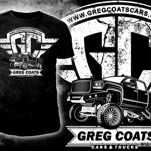 Truck t-shirt with the title 'Cars & Trucks company t-shirt Design '
