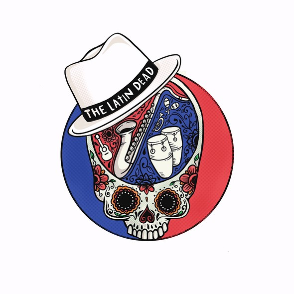 Latino logo with the title 'the latin dead'