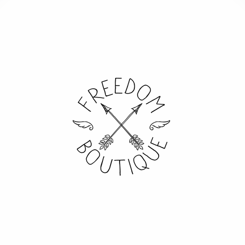 Chic logo with the title 'Freedom boutique'