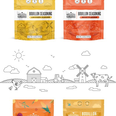 Logo redesign and packages for food company