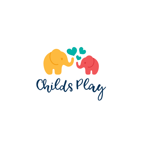 Heart design with the title 'Logo for Childs play'