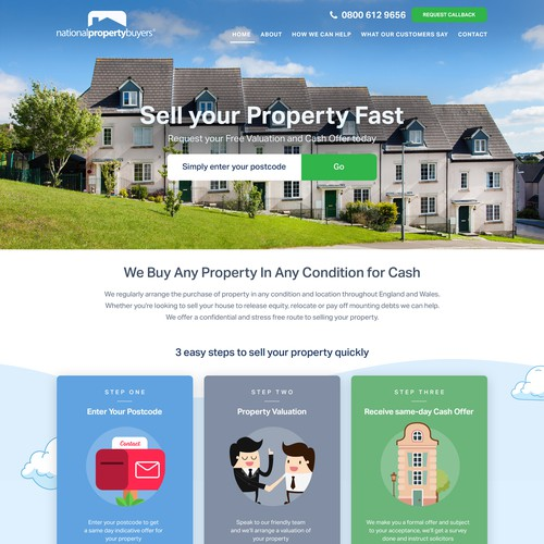 Property design with the title 'Cool web design for property selling website.'