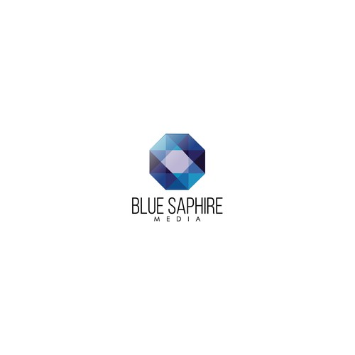 Sapphire logo with the title 'Logo concept for Blue Sapphire Media'
