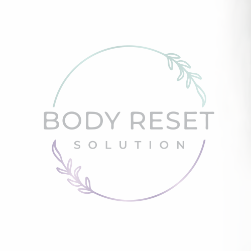 Botanical logo with the title 'Body Reset solution'