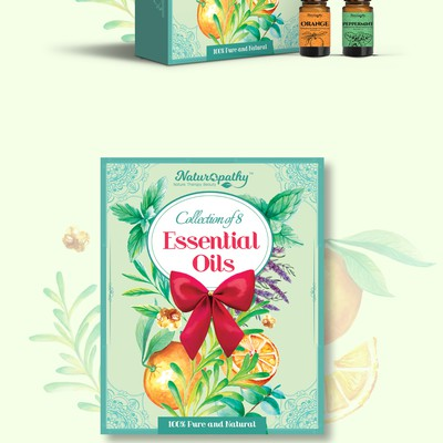 Essential oils gift packaging