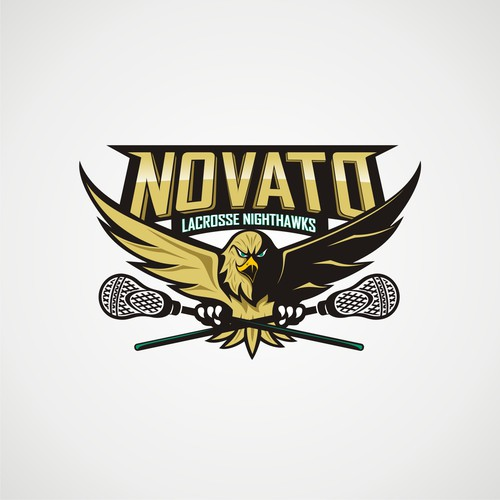 Hawk logo with the title 'novato nighthawk lacrosse'