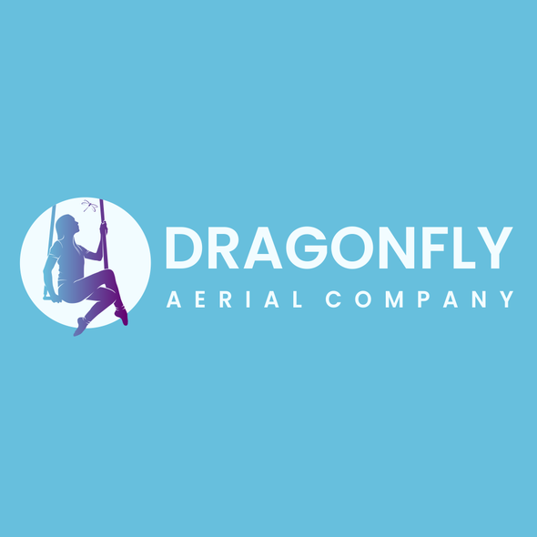 Dance school logo with the title 'Dragonfly Aerial Company'