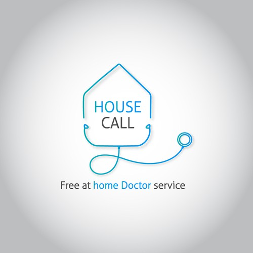 Call logo with the title 'house call , home doctor'