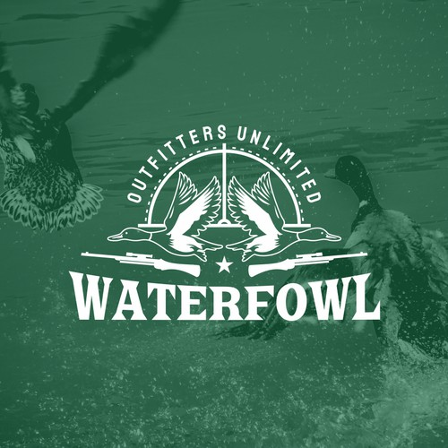 Goose logo with the title 'WATERFOWL'
