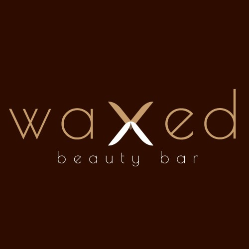 Wax design with the title 'WAXED beauty bar'