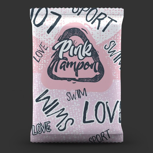 Punk design with the title 'Pink Tampon'