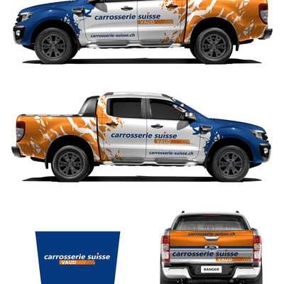 Ford Ranger carrosserie-suisse wrap design