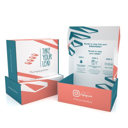 Product packaging with the title 'PRODUCT PACKAGING FOR TAKE YOUR LEAD'