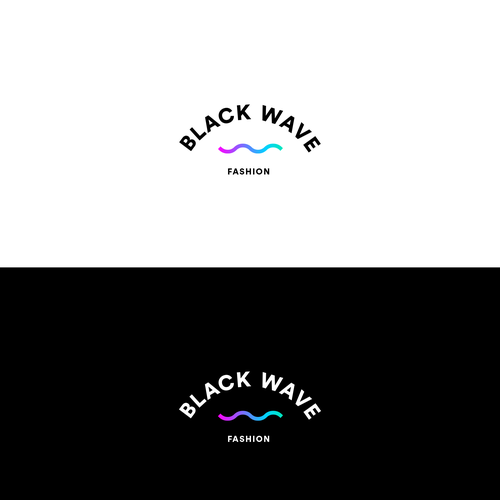 Cosplay logo with the title 'Black Wave Fashion Logo'