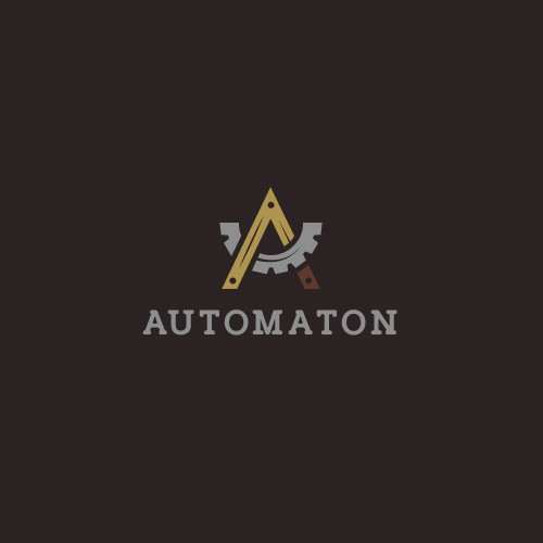 Automation logo with the title 'Creative logo design for a victorian/steampunk robot'