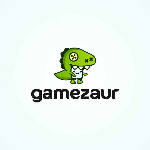 Puppet logo with the title 'Gamezaur  |  LOGO  |  Mobile Games Development Studio'