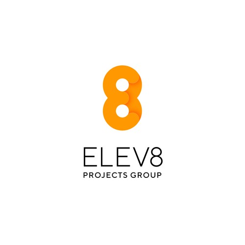 """Eight logo with the title 'E+8 """"ELEV8""""'"""