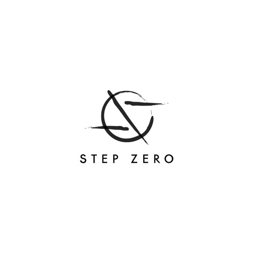Brush lettering design with the title 'StepZero'