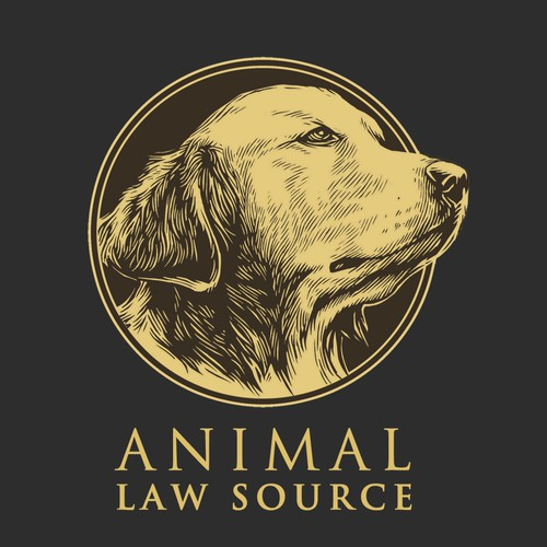 Manual design with the title ' law firm that helps animals logo.'