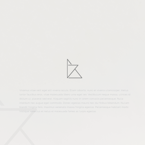 Origami logo with the title 'Logo concept for an interior design company'