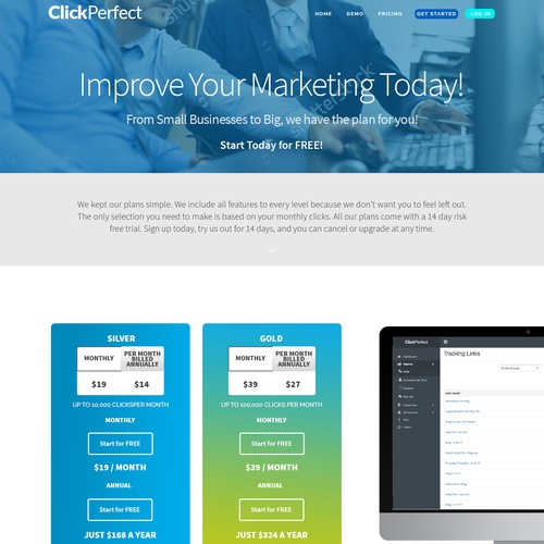 Pricing page design with the title 'Clean and bold pricing page'