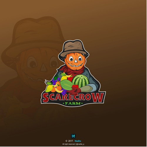 Fruit design with the title 'Logo for Scarecrow farm'