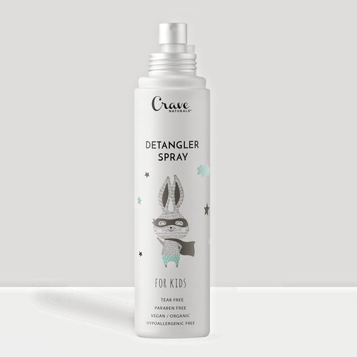 Display packaging with the title 'Detangler spray design concept'