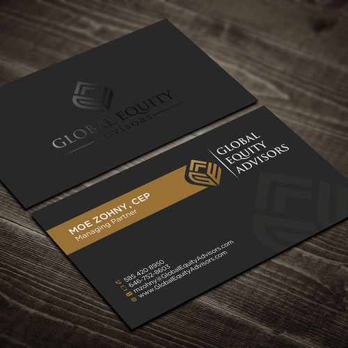 Glossy design with the title 'Corporate Business Card Design'