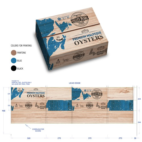 Wood design with the title 'package design, box design, label design'