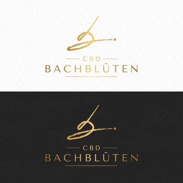 Natural medicine logo with the title 'CBD BACHBLÜTEN'