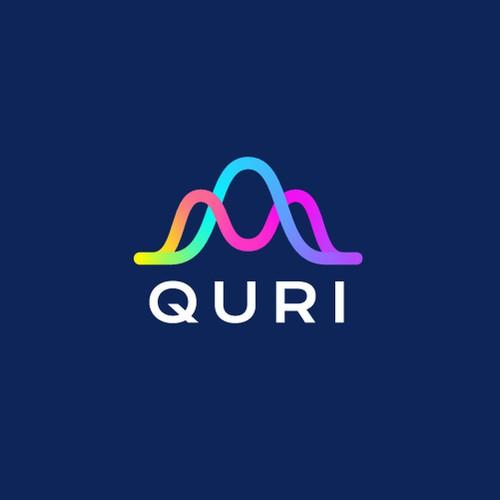 Scientific design with the title 'Creative logo design for Quri'