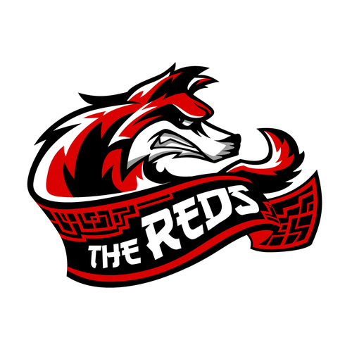 Evil logo with the title 'The Reds Gaming Team Logo'