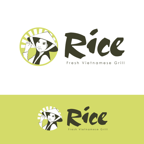 Rice design with the title 'Have your design appear everywhere in the south east of American, for a new restaurants'