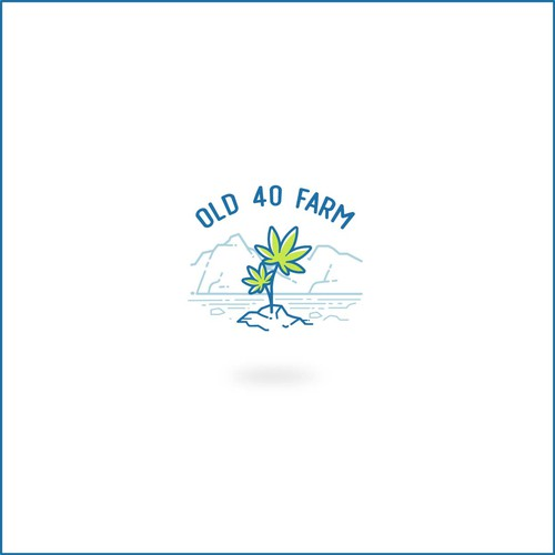 Vintage badge logo with the title 'Old 40 farm'