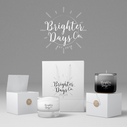 Wax logo with the title 'Fun, minimalist stamp-style logo for candle company. '
