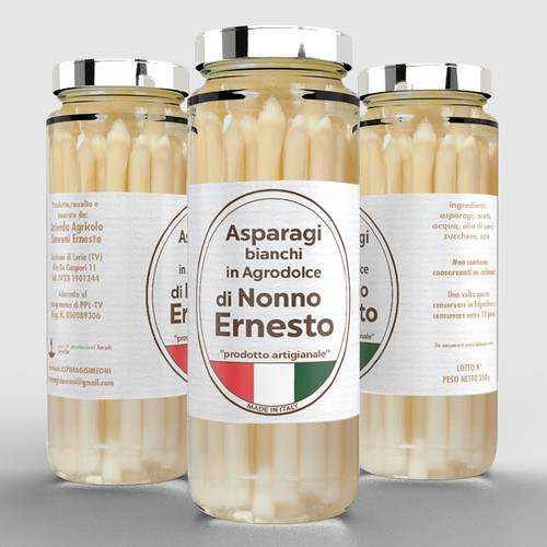 Bio label with the title 'Nonno Ernesto minimal'