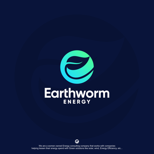 Green energy logo with the title 'Earthworm Energy'