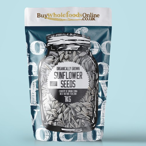Hand-drawn packaging with the title 'Design packaging for whole food products'