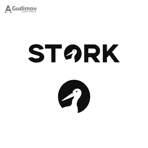 Stork logo with the title 'Stork logo concept'