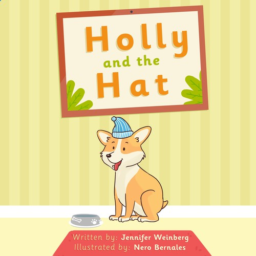Children's book artwork with the title 'Holly and the Hat'