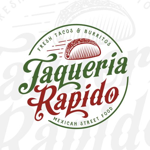 Taqueria logo with the title 'taqueria rapido'