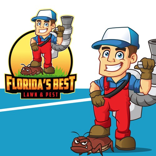Pest control logo with the title 'FLORIDA'S BEST'